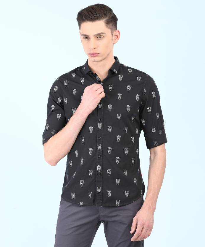 e08d66dc6ef Levi s Men Printed Casual Black Shirt - Buy Levi s Men Printed Casual Black  Shirt Online at Best Prices in India