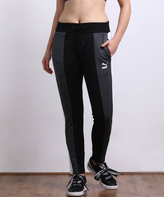3268255bb7e0 Puma Solid Women s Black Track Pants - Buy Puma Solid Women s Black Track  Pants Online at Best Prices in India