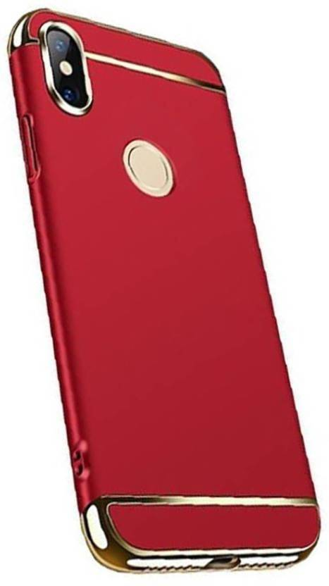 TECHCARE Back Cover for Xiaomi Redmi 6 Pro/ Mi 6 - 3in1 Luxury Electroplating Hard Case (red, Grip Case, Polycarbonate)