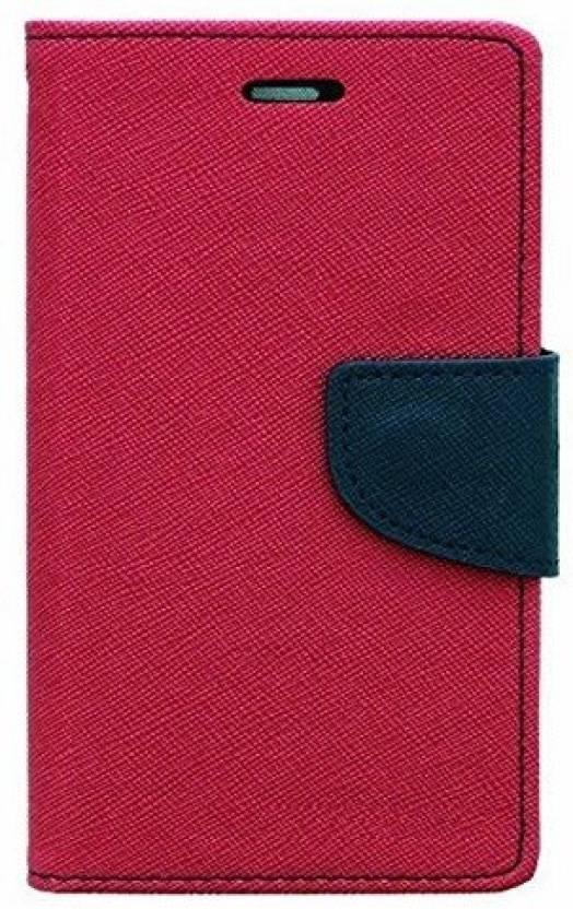 SAMARA Flip Cover for SAMSUNG Galaxy E5 Pink, Navy Blue