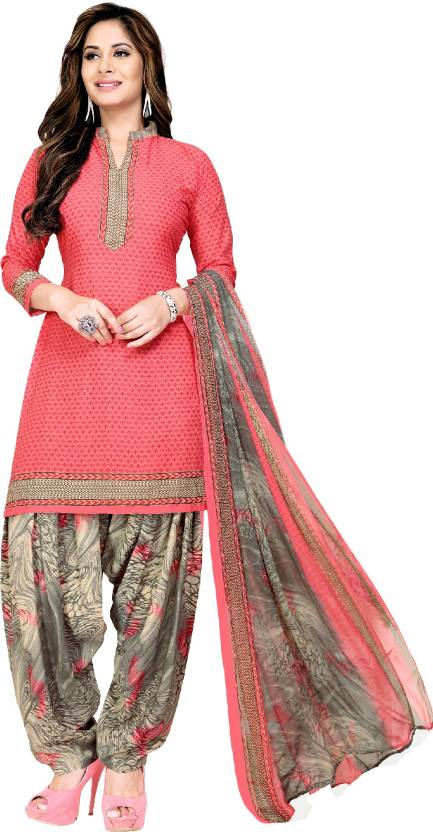 f632e526a Fashion Valley Crepe Printed Salwar Suit Dupatta Material (Un-stitched)