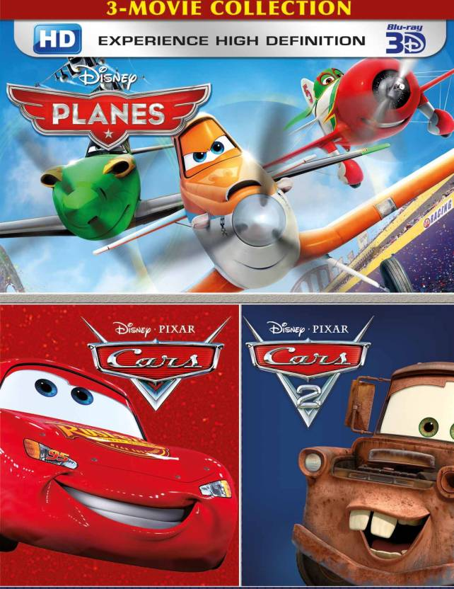 3 Movie Collection - Planes, Cars and cars 2 Price in India