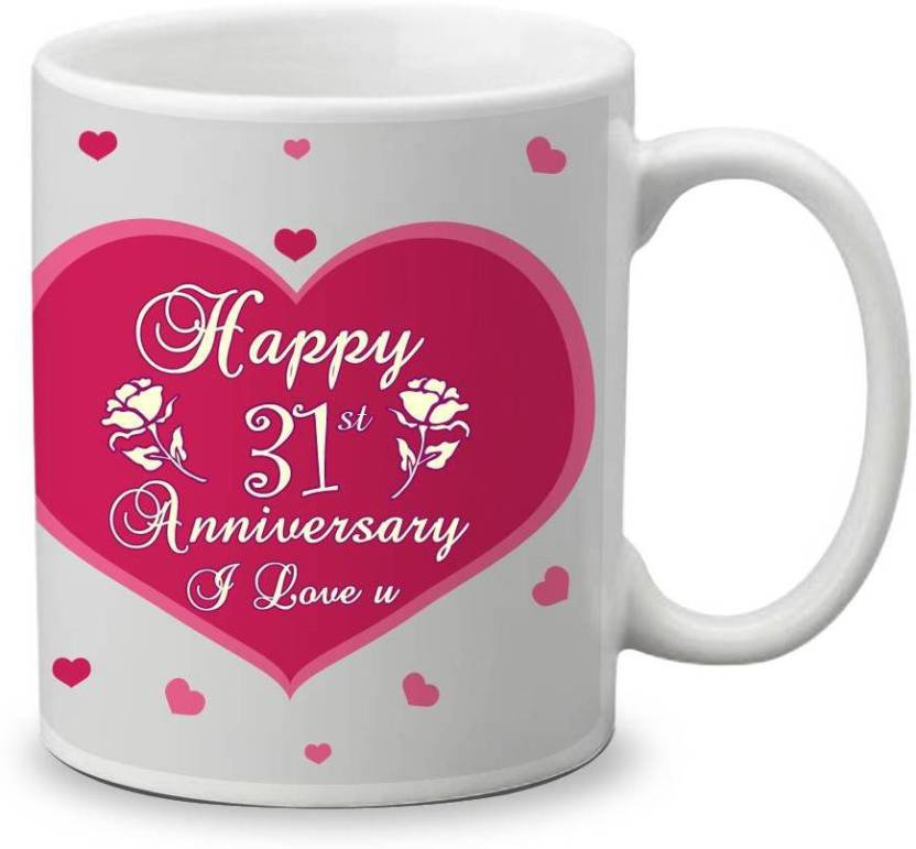 My Gifts Zone Happy 31st Anniversary I Love You Beautiful Ceramic