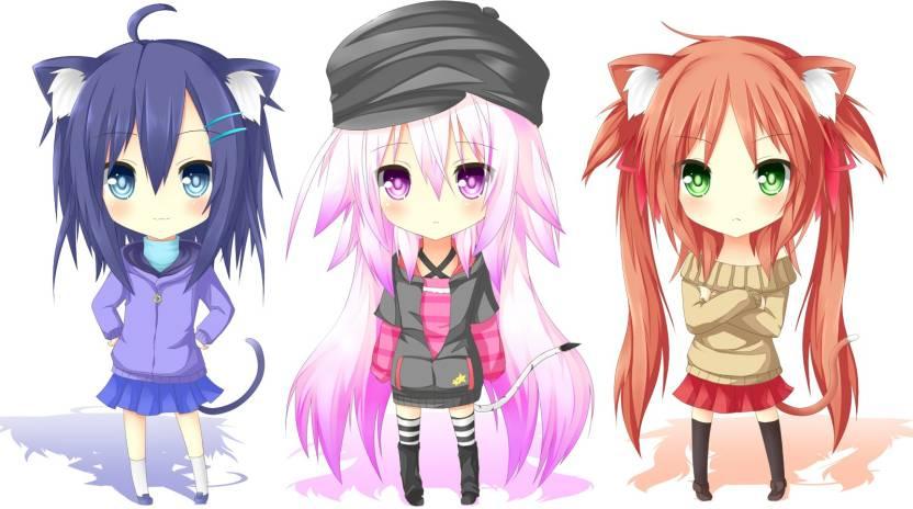 Athah Anime Original Girl Long Hair Purple Hair Red Hair Pink Hair