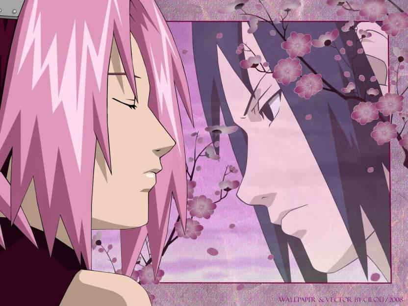 Athah Anime Naruto Sasuke Uchiha Sakura Haruno 13*19 inches Wall