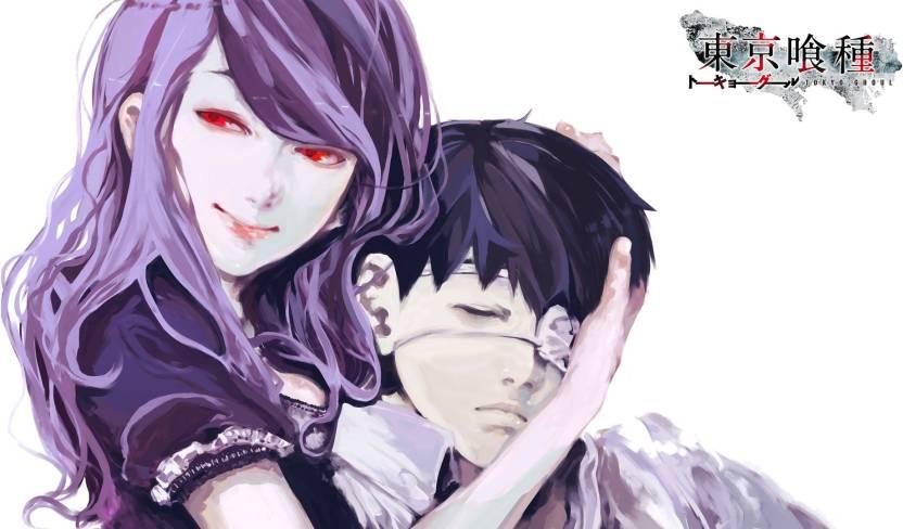 Athah Anime Tokyo Ghoul Ken Kaneki Rize Kamishiro 13*19