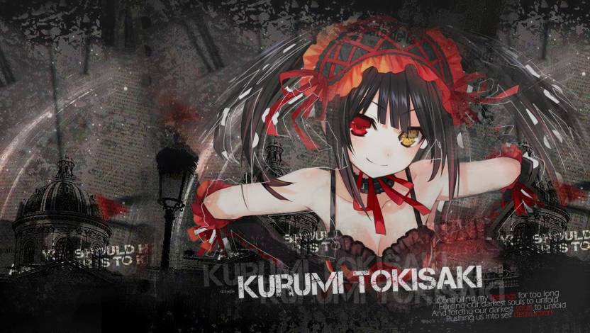 Athah Anime Date A Live Kurumi Tokisaki 1319 Inches Wall Poster Matte Finish Paper