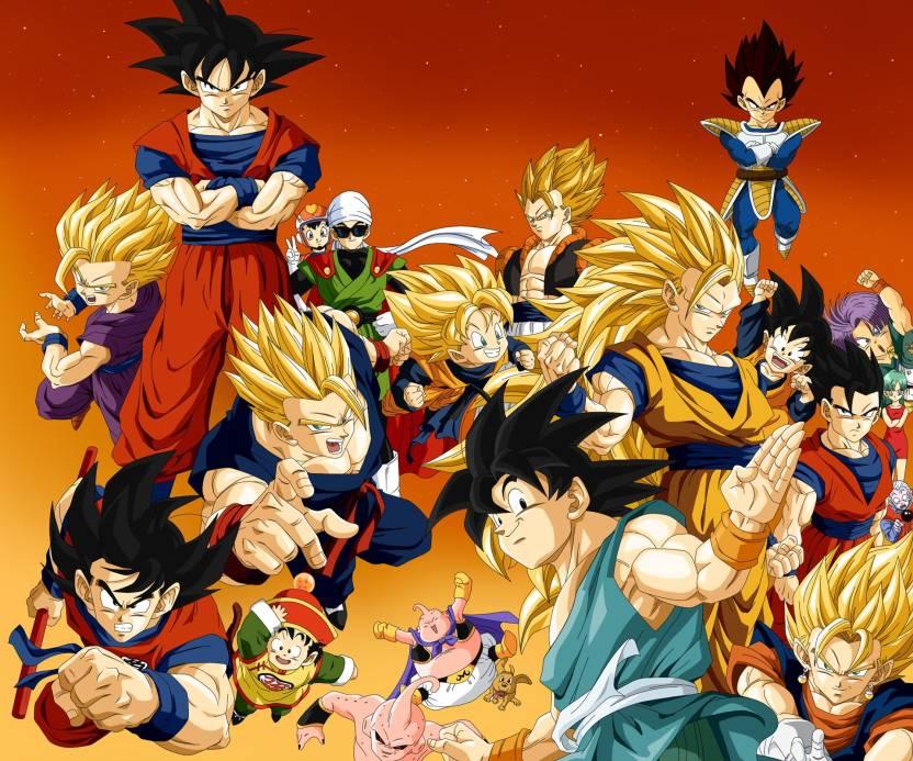 Athah Anime Dragon Ball Z Dragon Ball Vegeta Videl Trunks Goten Goku Gohan Majin Buu 13