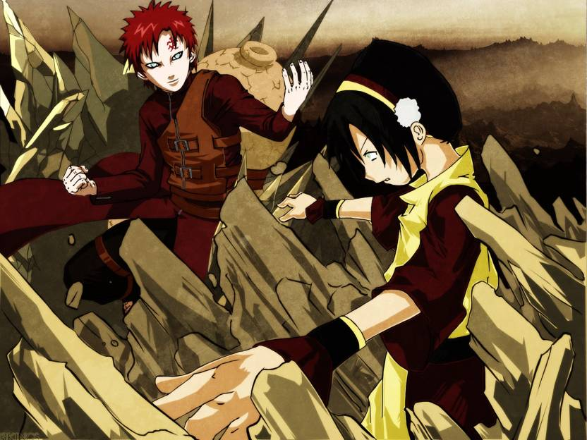 Athah Anime Crossover Toph Beifong Avatar The Last Airbender Gaara