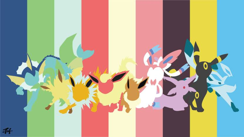 Athah Anime Pokemon Eevee Vaporeon Jolteon Flareon Umbreon Espeon Glaceon Leafeon Sylveon Eeveelutions 1319