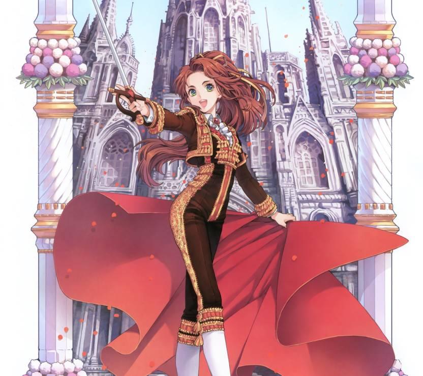 Athah Anime Original Brown Hair Long Hair Sword Green Eyes Ponytail