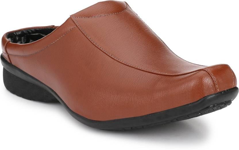 39f50ffacc1 ANNI INTERNATIONAL Men s Tan Half Back open Slip On Formal For Men (Tan)  Casuals For Men (Brown)