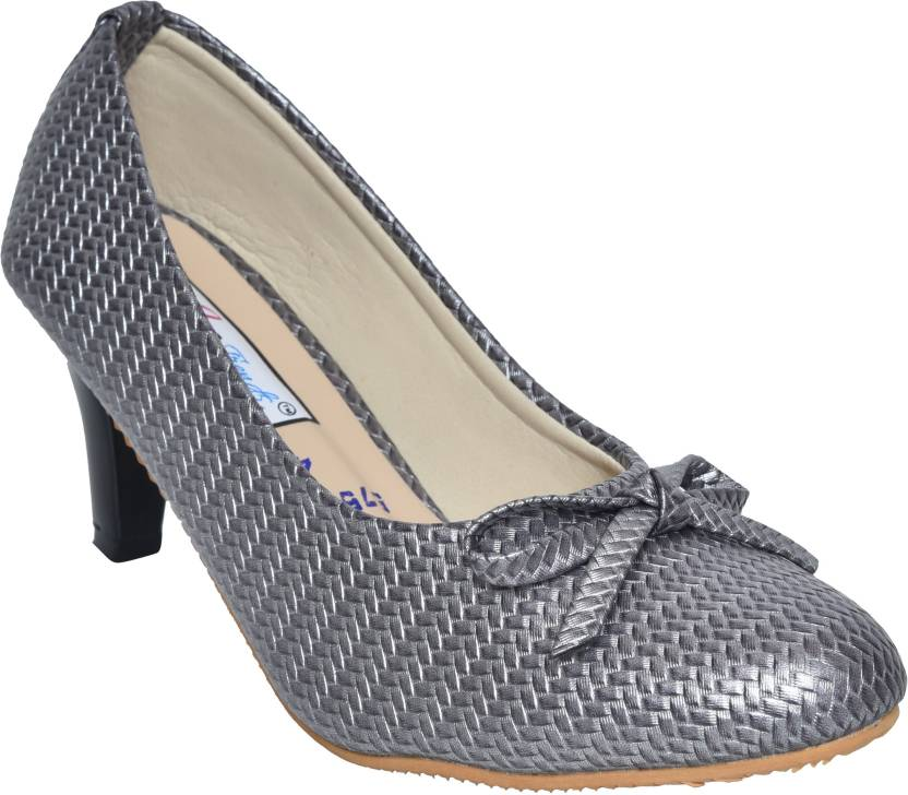 e9200ebbaa39 Micra Trends Classy Stylish Party Wear Casuals Heels Bellies For Women  (Silver)