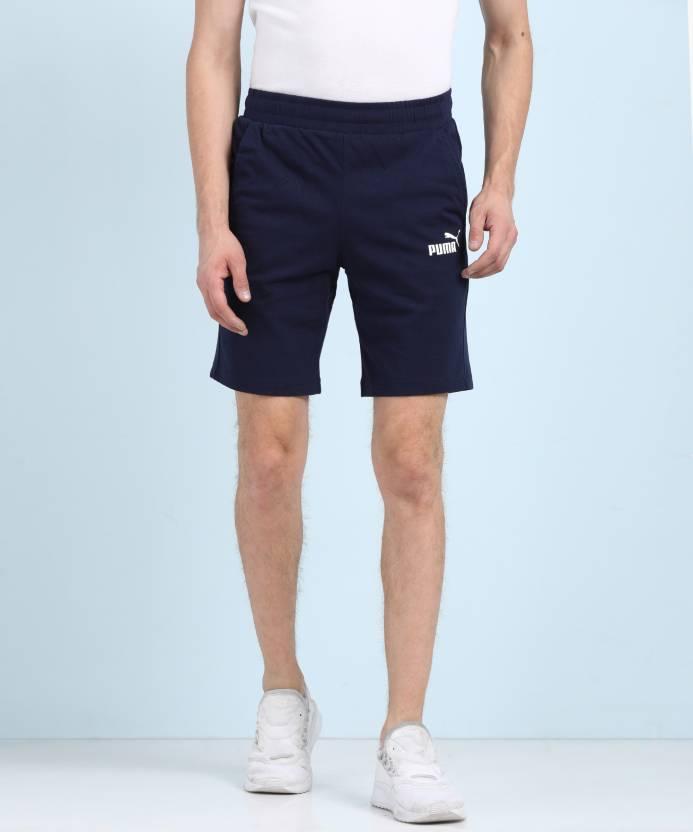 Puma Solid Men s Dark Blue Regular Shorts - Buy Puma Solid Men s Dark Blue  Regular Shorts Online at Best Prices in India  2cb6e3b38