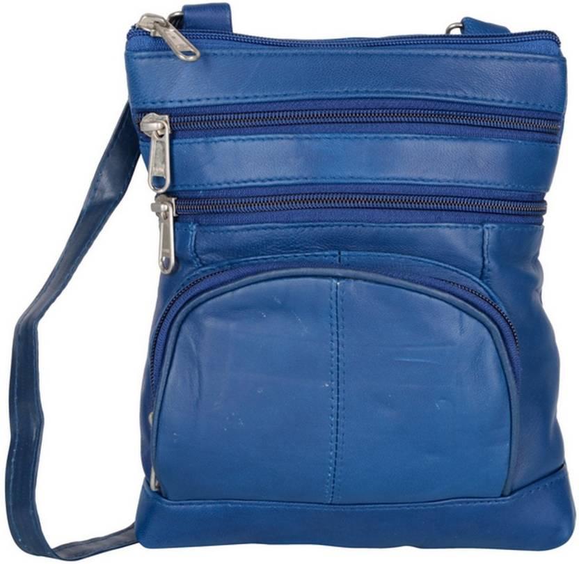 AspenLeather Women Formal Blue Genuine Leather Sling Bag Blue - Price in  India  1e66ea7519f63