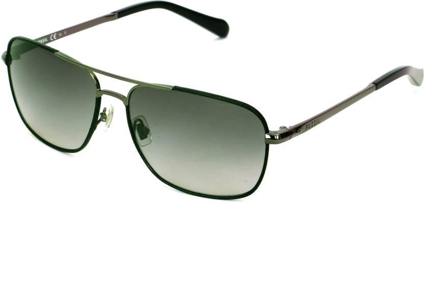 77f2ffe4b8 Buy Fossil Rectangular Sunglasses Green For Men   Women Online ...