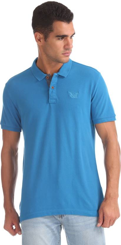 f6bc0a7ad9 ARROW BLUE JEANS CO. Solid Men Polo Neck Brown T-Shirt - Buy ARROW BLUE  JEANS CO. Solid Men Polo Neck Brown T-Shirt Online at Best Prices in India  ...