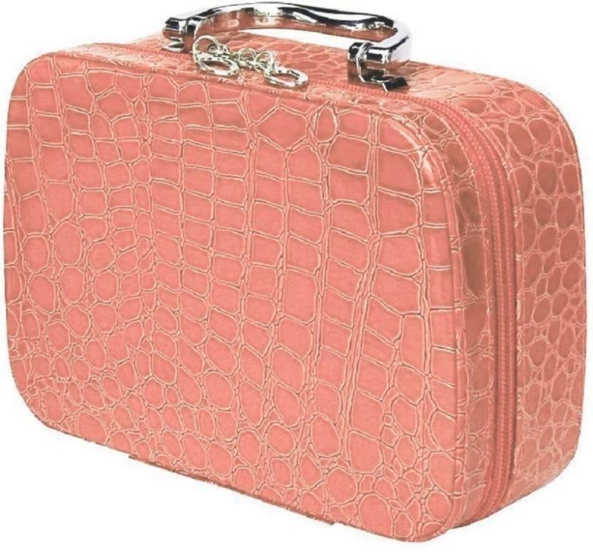 4d79f3e20c01e8 Holiday cosmatics bag and storage vanity bag All Vanity Box cosmetics , storage,jewelry,utility,makeup kit, vanity bag,Travel toiletry kit Vanity  Box (Pink)