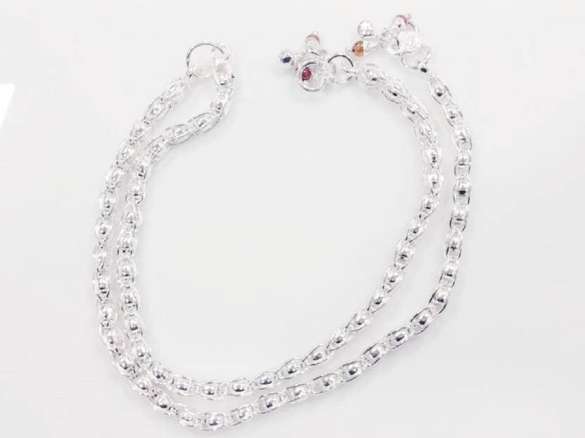 b5929d48d8b krishna fancy jewellers 2 pis 20 gm Silver Anklet Price in India - Buy  krishna fancy jewellers 2 pis 20 gm Silver Anklet Online at Best Prices in  India ...