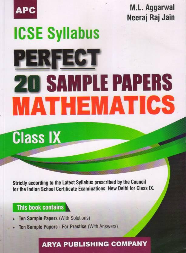 ICSE Perfect 20 Sample Papers Mathematics - Class 9: Buy