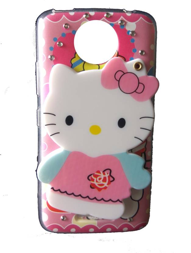 a4fda6f94a99 ANVIKA Back Cover for Anvika Mirror Hello Kitty Case Cover For Motorola  Moto C Plus   Moto C plus (Pink