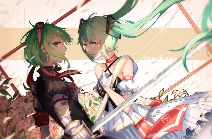 Athah Anime Vocaloid GUMI Hatsune Miku 1319 Inches Wall Poster Matte Finish Paper Print