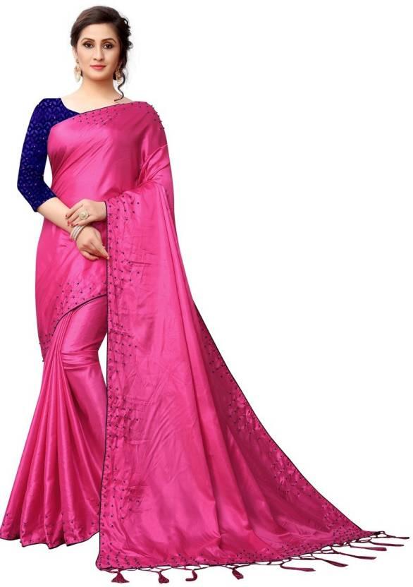 0a81ebaf65 GJKheni Applique, Temple Border Bollywood Pure Silk Saree