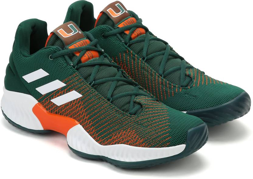 outlet store 444f8 341c4 ADIDAS PRO BOUNCE 2018 LOW Running Shoes For Men (Green)