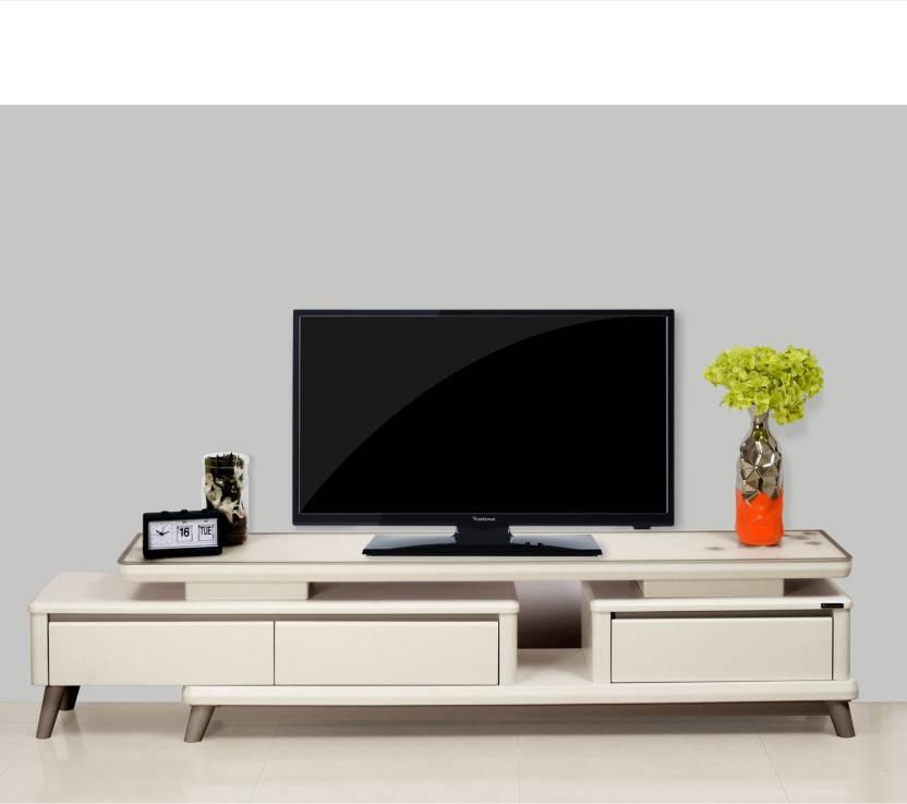 Nilkamal Marcus Solid Wood TV Entertainment Unit Finish Color   Cream