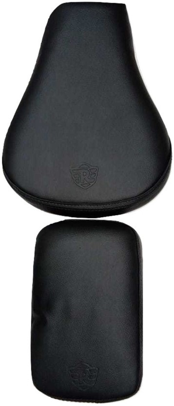 Royal Enfield Classic 350//500 Split Seat Cover Black Brown With White Diamond