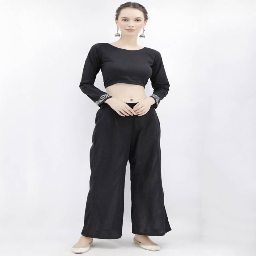 60dcb9ab7e9e52 TJORI Round Neck Women Stitched Blouse - Buy TJORI Round Neck Women ...
