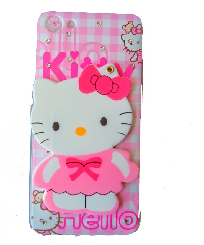 70034344d ANVIKA Back Cover for Anvika Mirror Hello Kitty Case Cover For Vivo Y81  (Pink, Flexible Case)