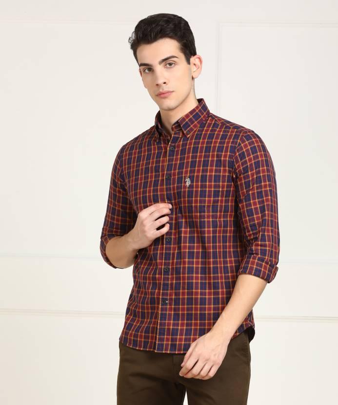 73eab835 U.S. Polo Assn Men's Checkered Casual Multicolor Shirt - Buy U.S. Polo Assn  Men's Checkered Casual Multicolor Shirt Online at Best Prices in India ...