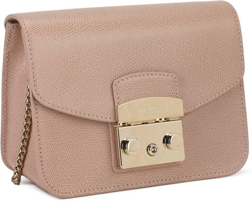 eb7b6137c991 Furla Women Casual Pink Genuine Leather Sling Bag MOONSTONE - Price in India  | Flipkart.com