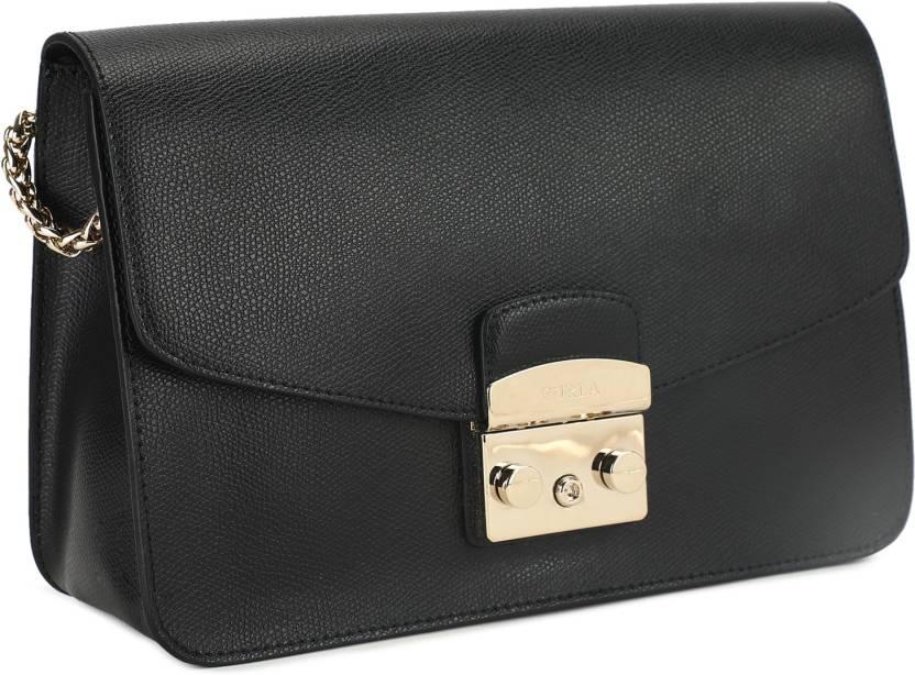 a5218d0f3a35 Furla Women Casual Black Genuine Leather Sling Bag ONYX - Price in India |  Flipkart.com