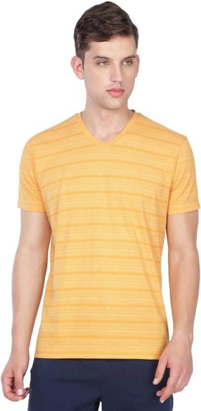 Jockey Striped Men V-neck Gold T-Shirt - Buy Jockey Striped Men V ... 36d02766e558