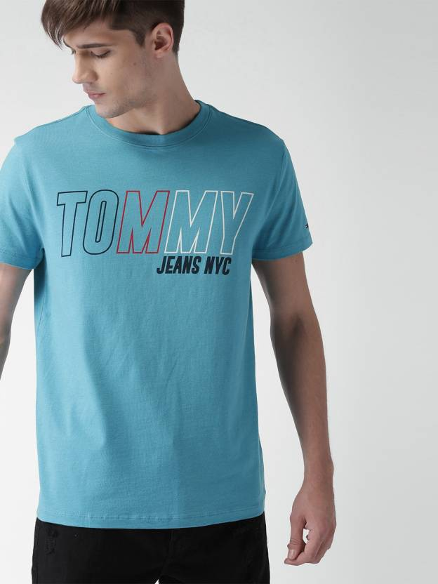 35bdd2661 Tommy Hilfiger Solid Men Round Neck Blue T-Shirt - Buy Tommy ...