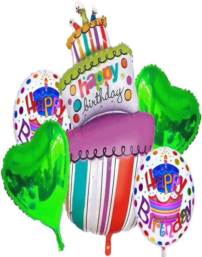 Happy Birthday Cake Shape Foil Helium Balloon Birthday Party Decoration  /&T