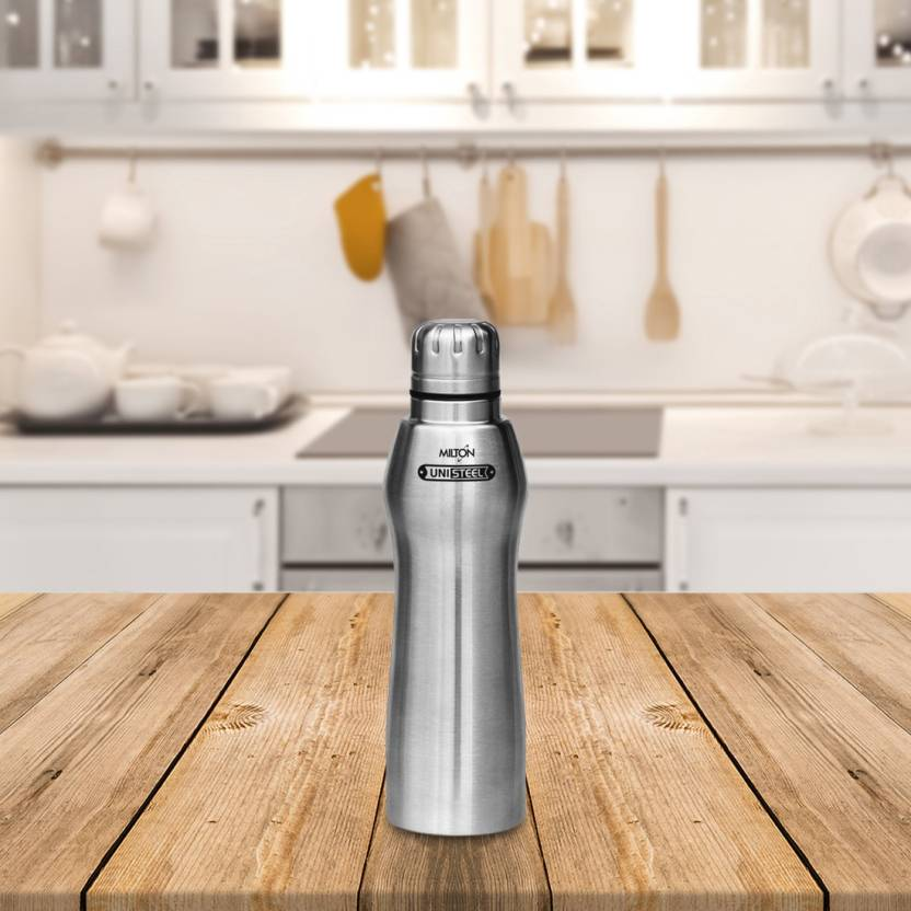 Milton Puro Unisteel Water Bottle, Steelplain, 700 ml 700 ml Bottle