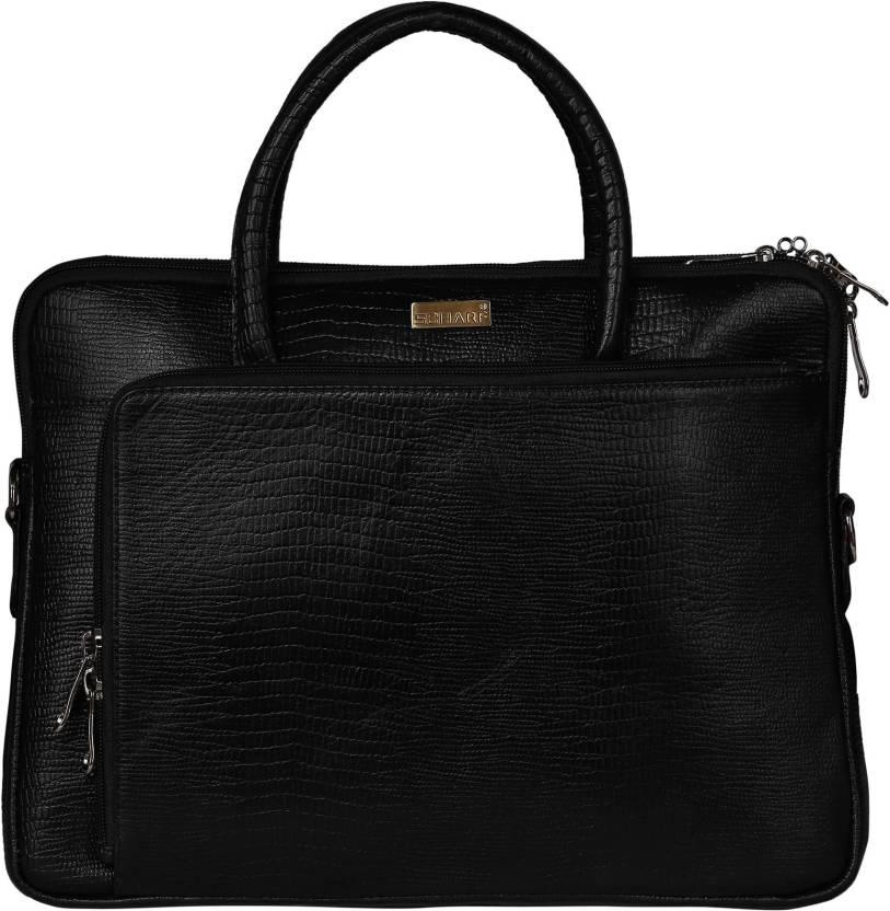 4db5480fd6fe SCHARF Casa Grace - Eyes on Him 13.4 Laptop - Macbook Shoulder Bag Medium  Briefcase - For Men   Women (Black)