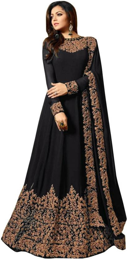 ea7641aa3 Ethnic Yard Faux Georgette Embroidered Semi-stitched Salwar Suit Dupatta  Material Price in India - Buy Ethnic Yard Faux Georgette Embroidered Semi- stitched ...