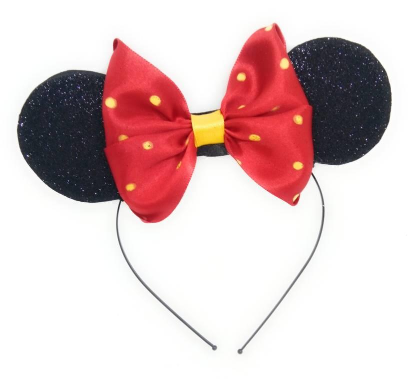 9744e6b4b5 SKD Glitter Minnie Mouse/Mickey Mouse Ears / Bow Headband/ Hairband ...