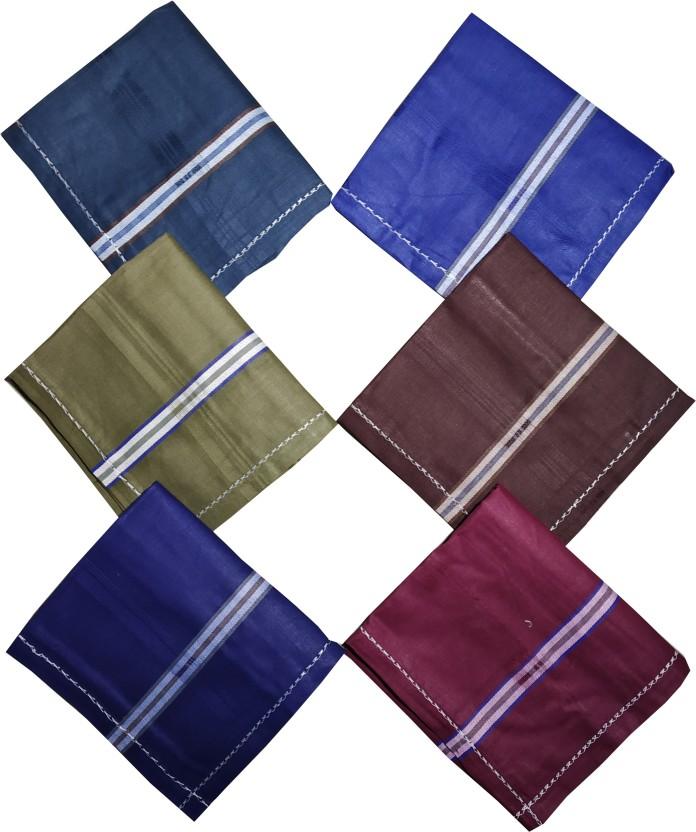 Pack of 6 Multicolor Men/'s 100/% Cotton Premium Collection Handkerchiefs