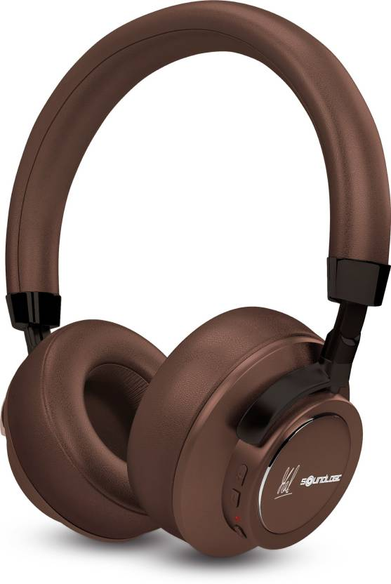 a784c84b387 SoundLogic MSD Edition Voice Assistant Wireless Stereo Headphon Bluetooth  Headset with Mic (Brown, Over the Ear)