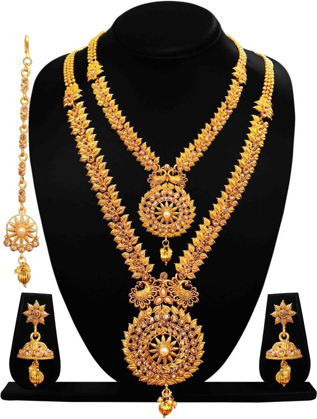 cab004b80 CAJ Crystal, Brass Jewel Set Price in India - Buy CAJ Crystal, Brass ...