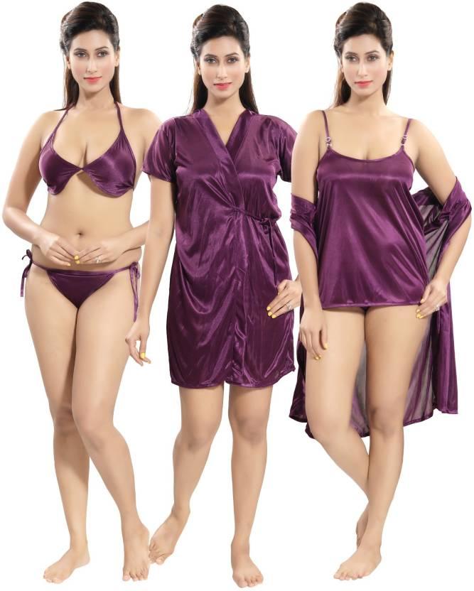 2112f02bc Fabme Women Nighty Set - Buy Fabme Women Nighty Set Online at Best ...