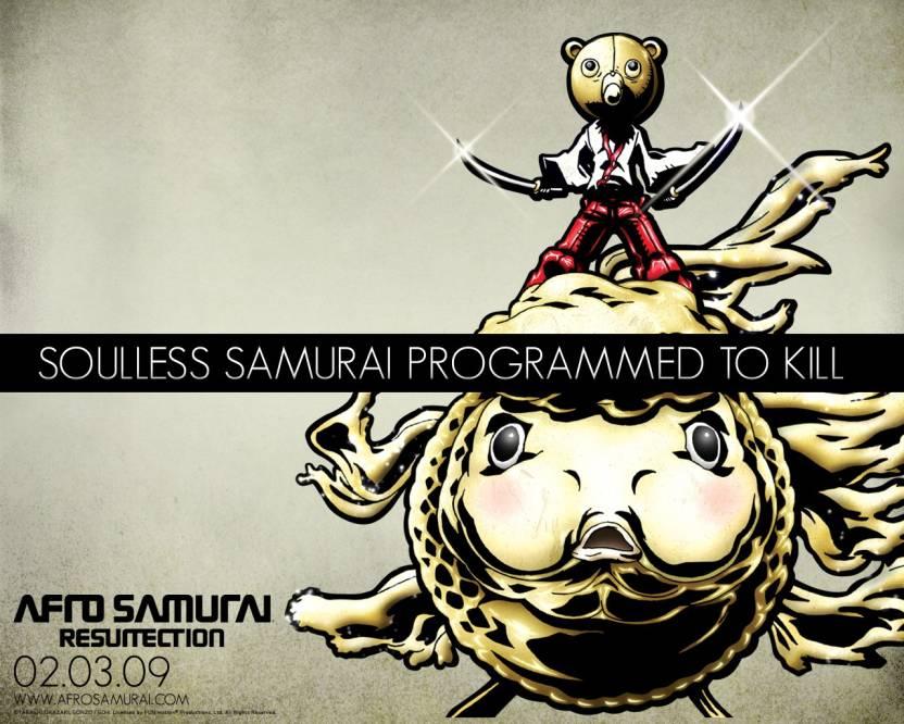 Athah Anime Afro Samurai Kuma 13*19 inches Wall Poster Matte Finish