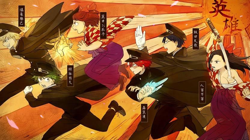 Athah Anime My Hero Academia Izuku Midoriya Ochako Uraraka