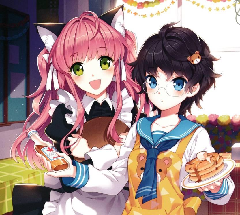 Athah Anime Original Nekogirl Short Hair Black Hair Blush Blue Eyes