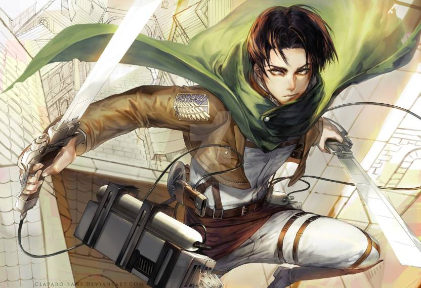 Athah Anime Attack On Titan Levi Ackerman 1319 Inches Wall Poster Matte Finish Paper